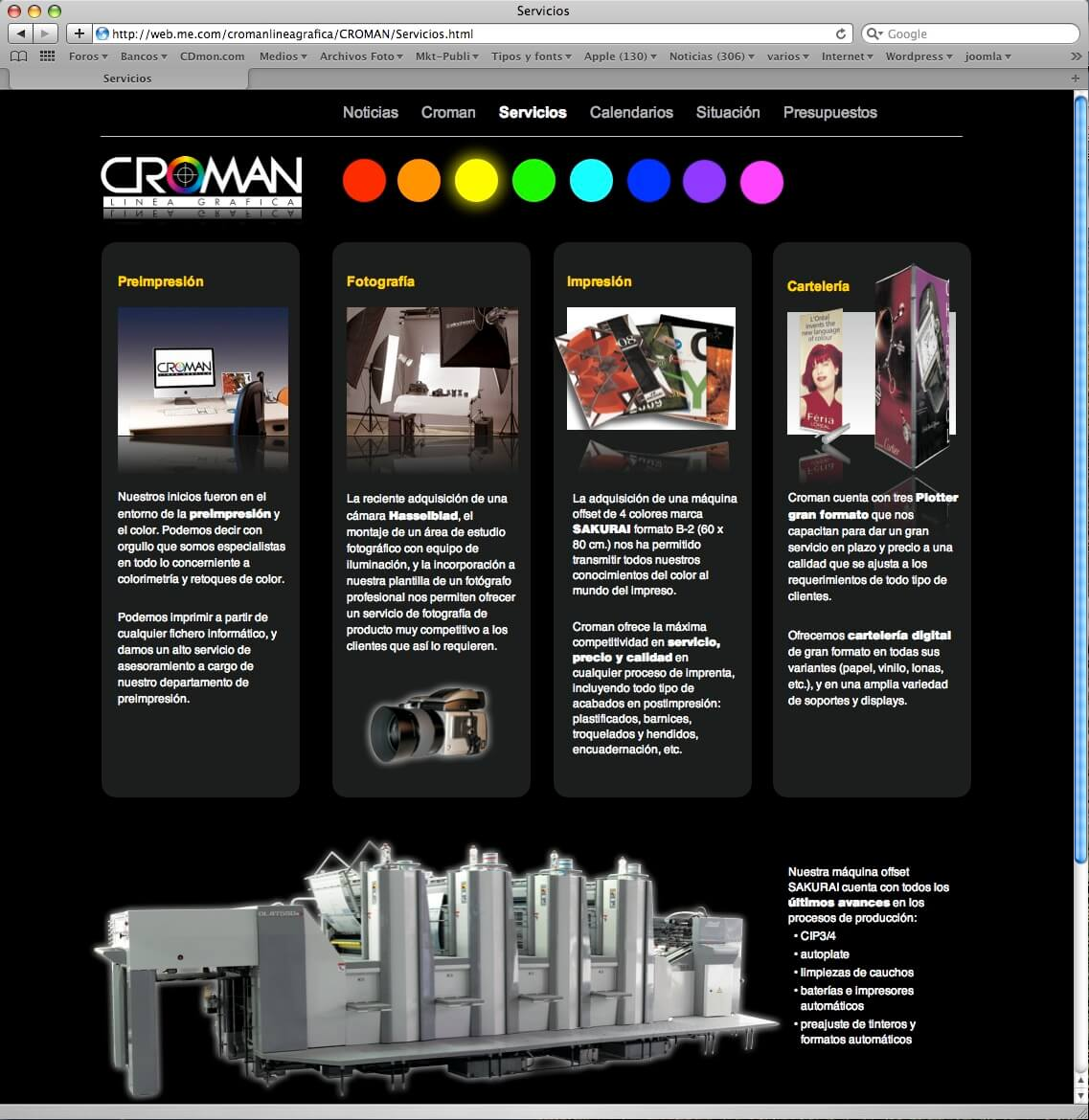 Website Croman Linea Grafica